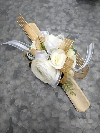 All White Wrist Corsage