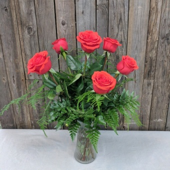 Half Dozen Rose Arrangement