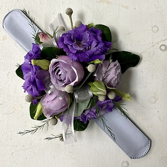 Lavender and Purple Wrist Corsage